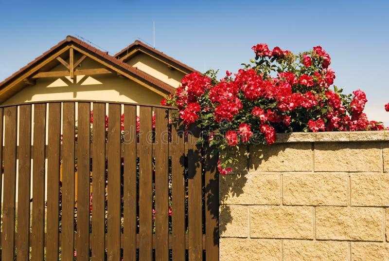 Domu domu kwiatów ściana obrazy stock