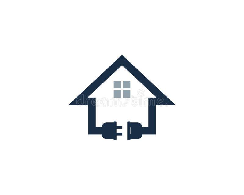 Domu domu władzy ikony loga projekta Energetyczny element royalty ilustracja