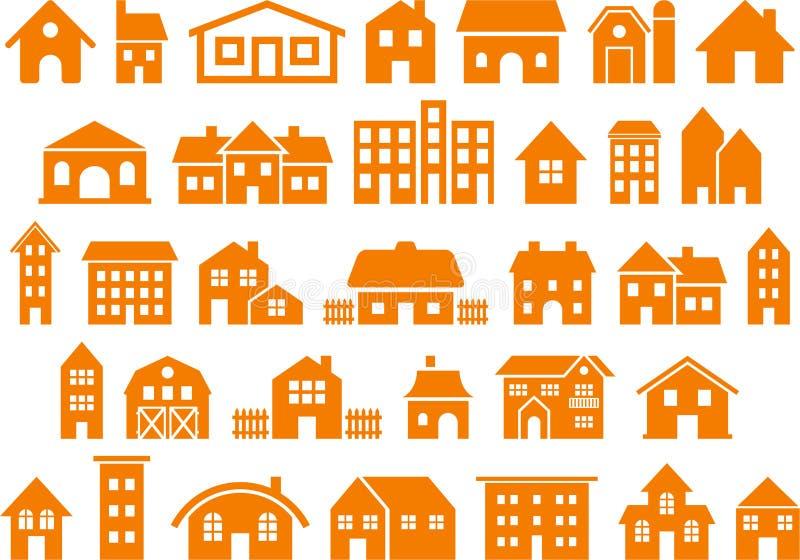 Domu i budynku ikony ilustracji