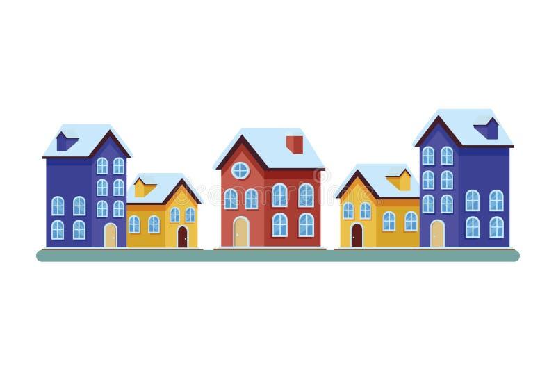 Domu i budynku ikony royalty ilustracja