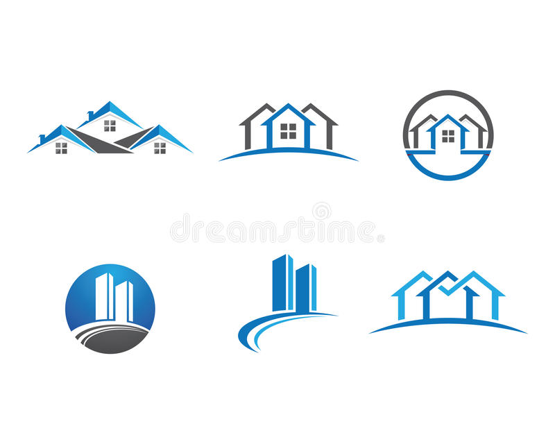 Domu i budynku logo