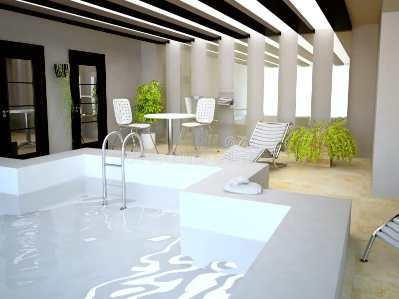 domu inside basenu dopłynięcie ilustracji