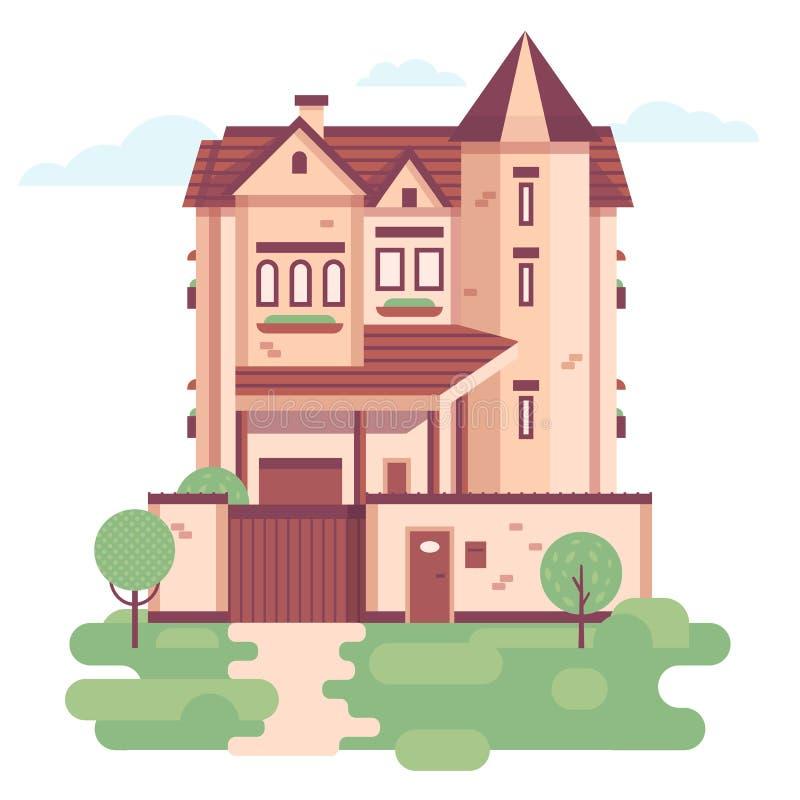 Domu miejskiego dzień ilustracji