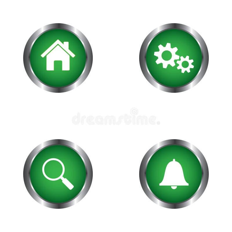 Domu, położeń, rewizi i powiadomienia sieć, zapina wektorowego projekt ilustracja wektor
