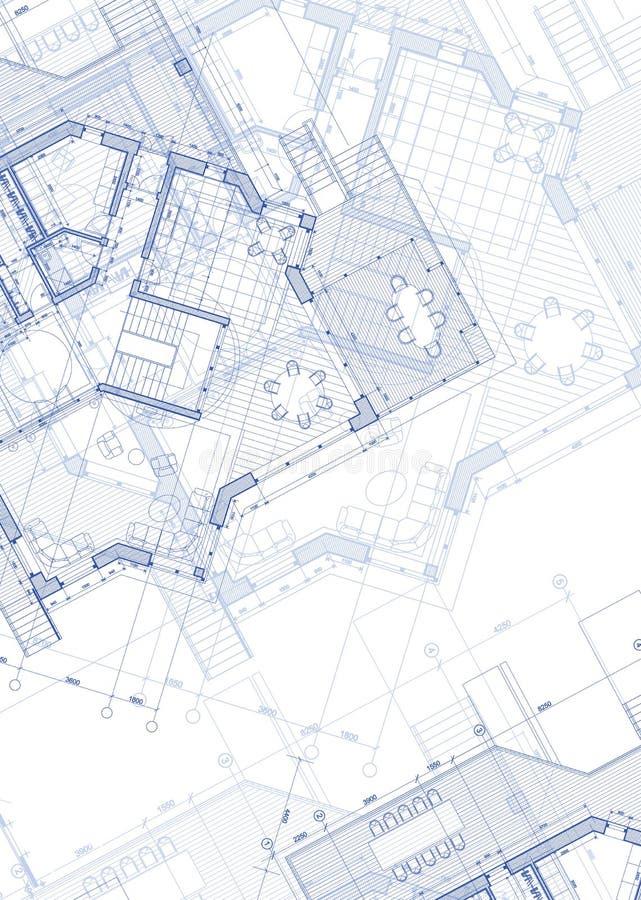 domu projektu planu ilustracja wektor