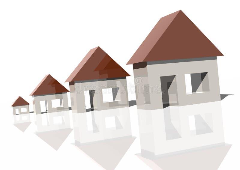 domu rosnącego rynku royalty ilustracja
