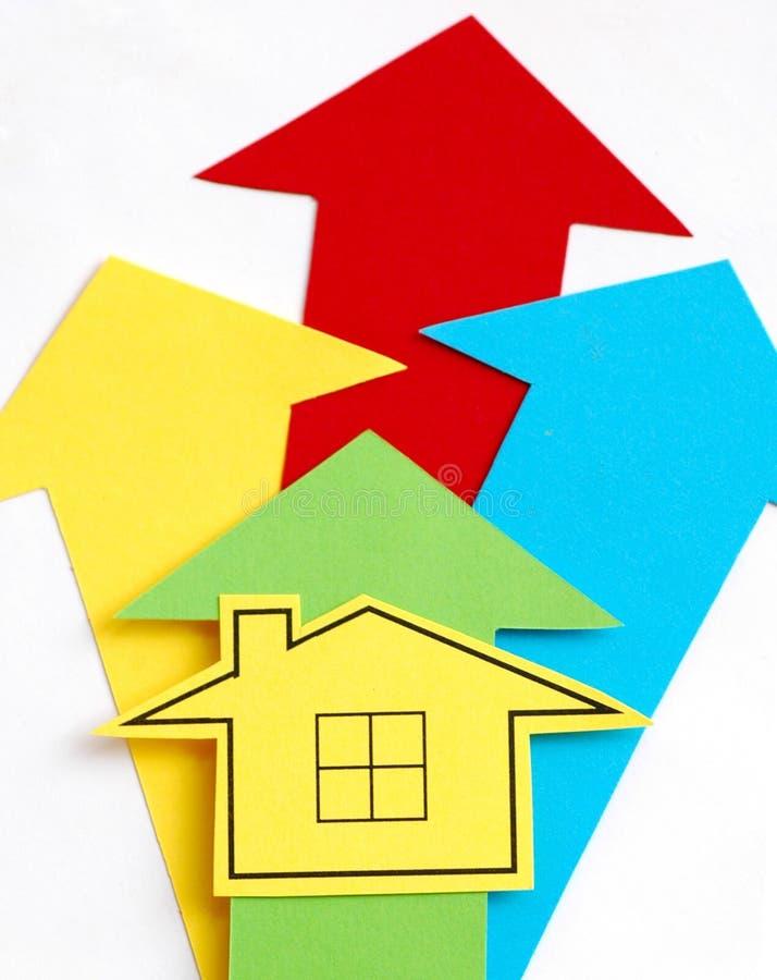 domu wzrost ceny zdjęcie royalty free