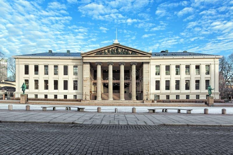 Domus środki stary budynek uniwersytet Oslo, Norwegia obrazy royalty free