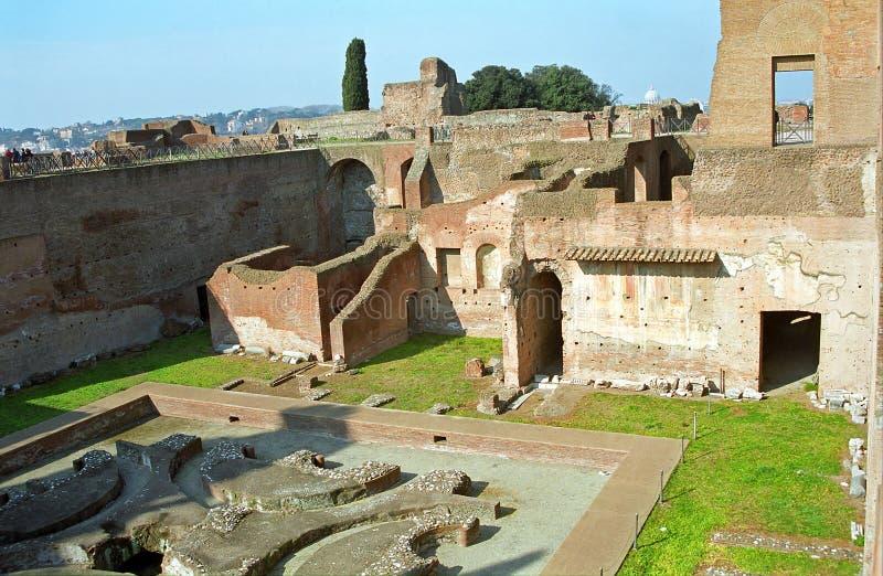 Domus Augustuna in Palatino, Rom, Italien stockfotos