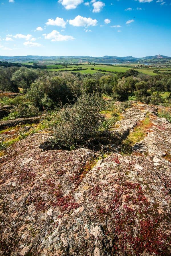 Domus de janas, prehistoric burial structures stock photos