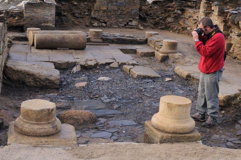 Domus romano - Spagna immagine stock
