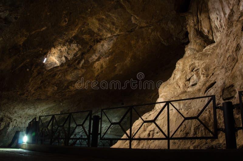 Domusnovas, Grotta di San Giovanni. City of Domusnovas, a view of the Grotta di San Giovanni stock photography