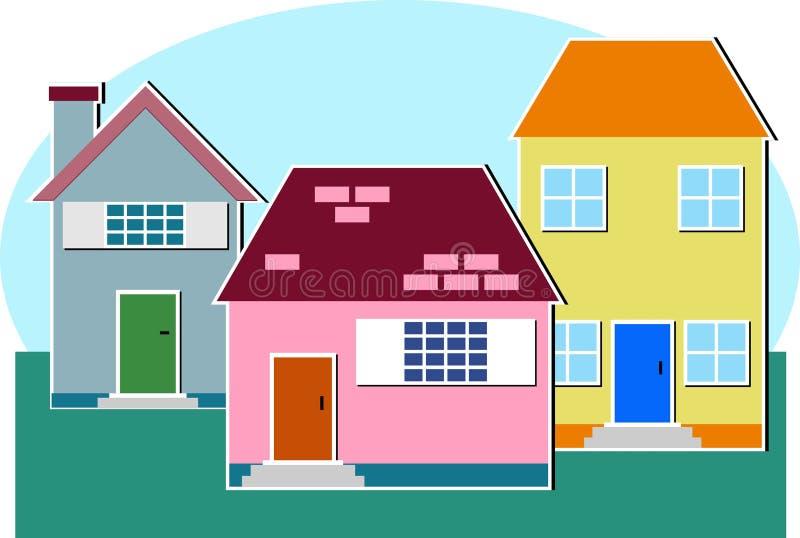 domy ilustracji