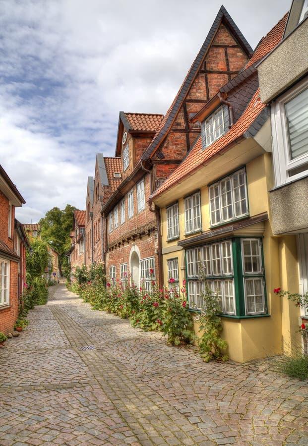 Domy historyczne w Luneburgu, Niemcy zdjęcia stock