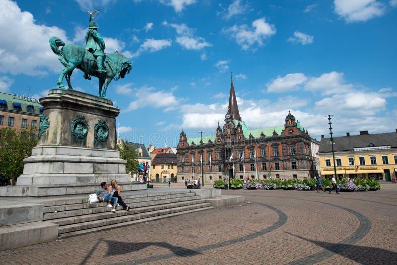 domy Malmo Szwecji starego miasta szwedzkiego tradycyjnego zdjęcie stock