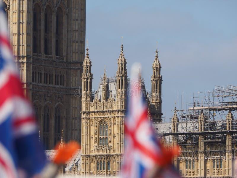 Domy parlament w Londyn obraz royalty free
