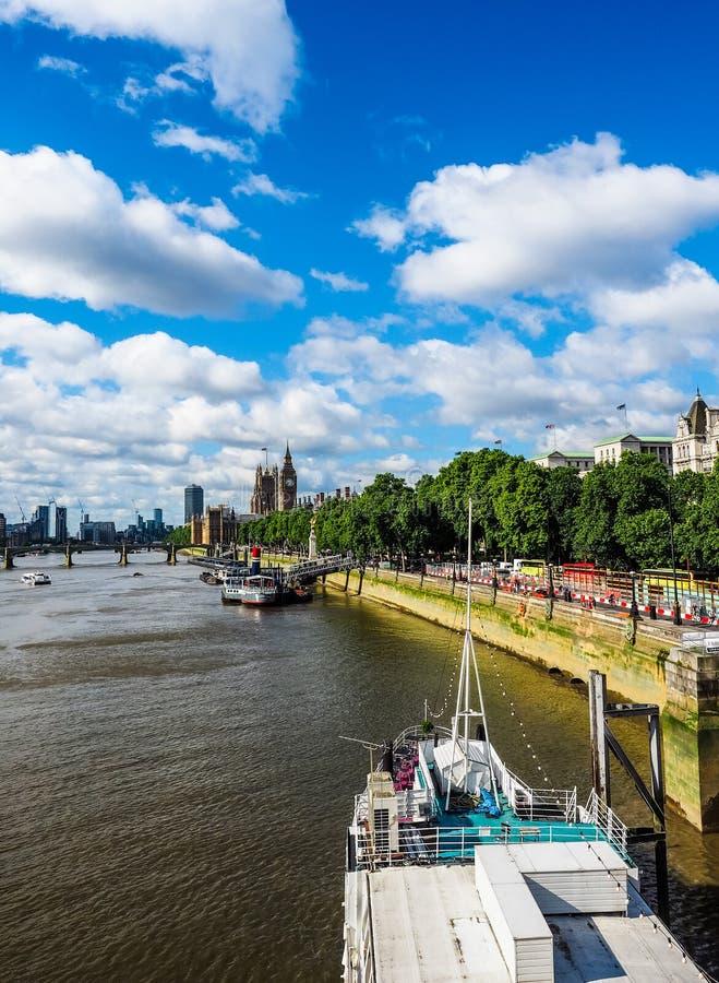 Domy parlament w Londyn, hdr zdjęcie stock