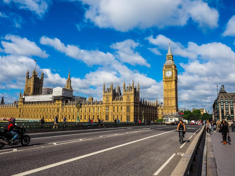 Domy parlament w Londyn, hdr obraz stock