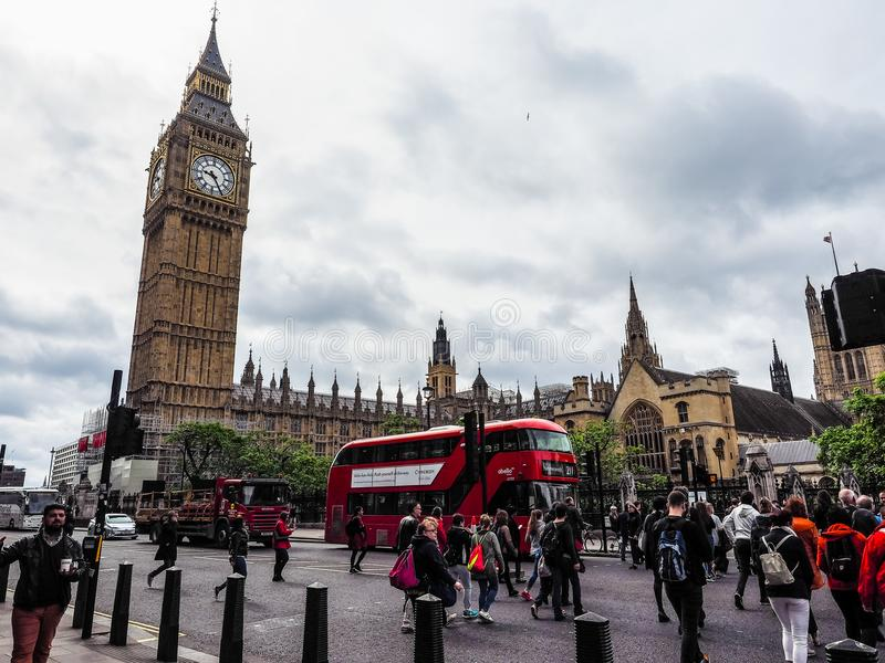 Domy parlament w Londyn, hdr zdjęcia stock