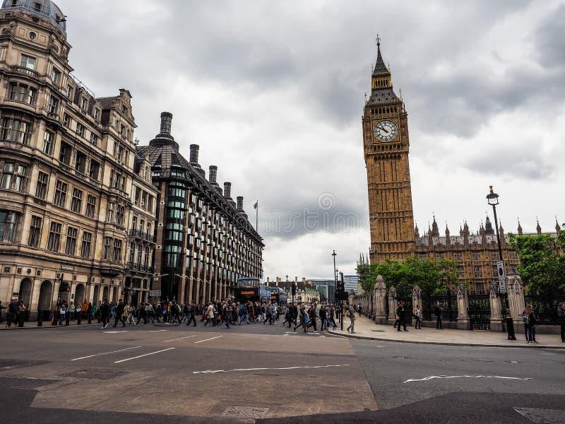 Domy parlament w Londyn, hdr zdjęcia royalty free
