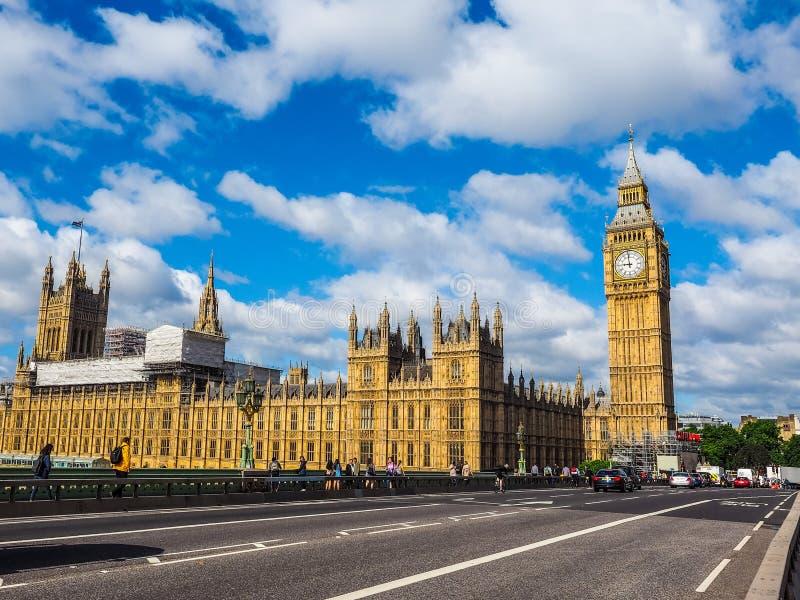 Domy parlament w Londyn, hdr obrazy royalty free