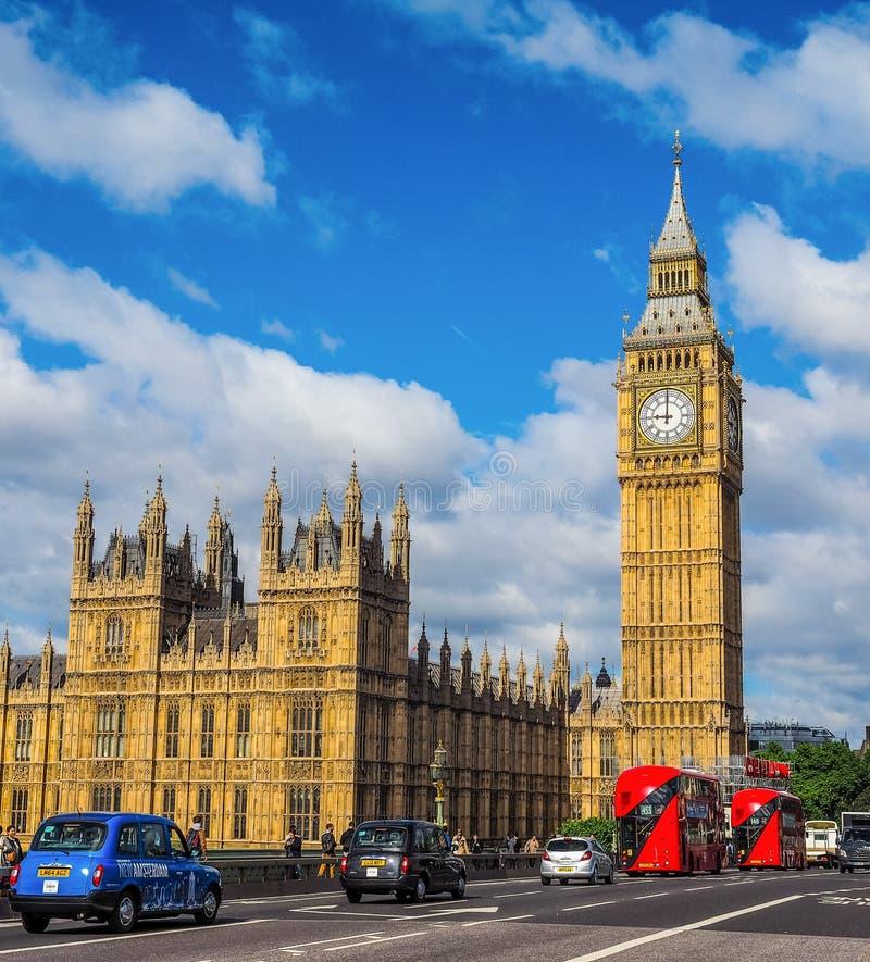 Domy parlament w Londyn (hdr) zdjęcia stock