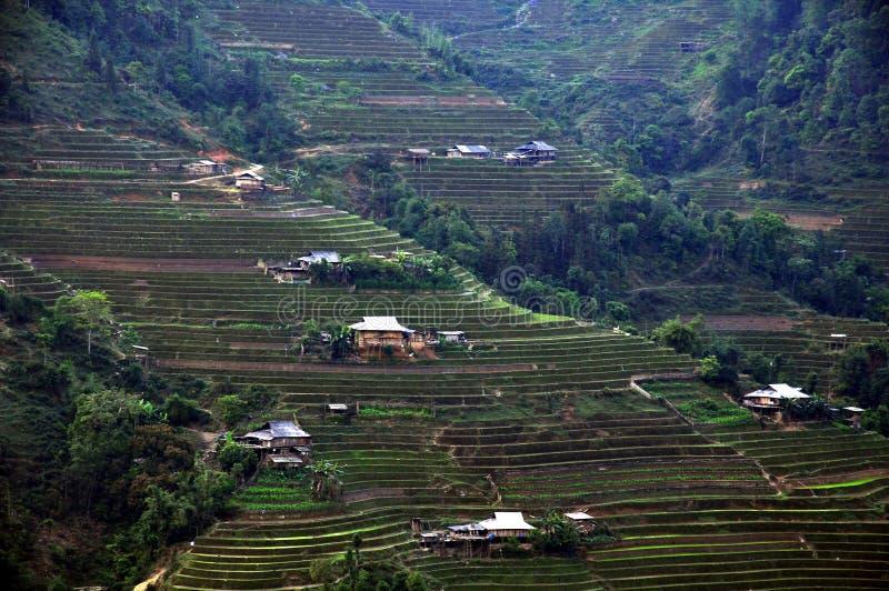 Domy po środku góry zdjęcia royalty free