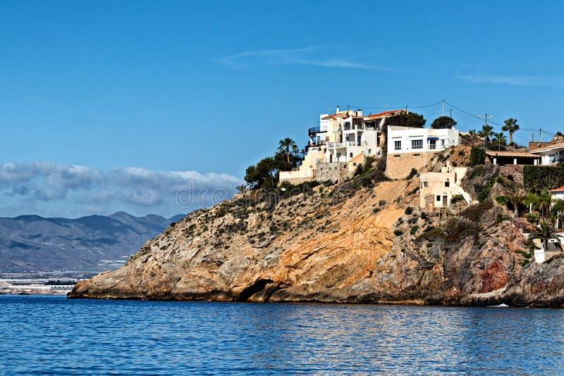 Domy przegapia denną wysokość na hiszpańszczyzny przylądkowe fotografia royalty free
