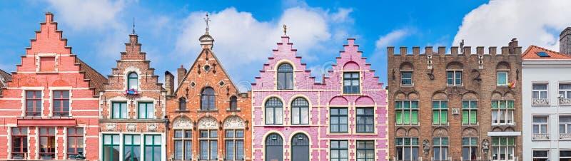 Domy przy Targowym kwadratem w Bruges zdjęcia royalty free