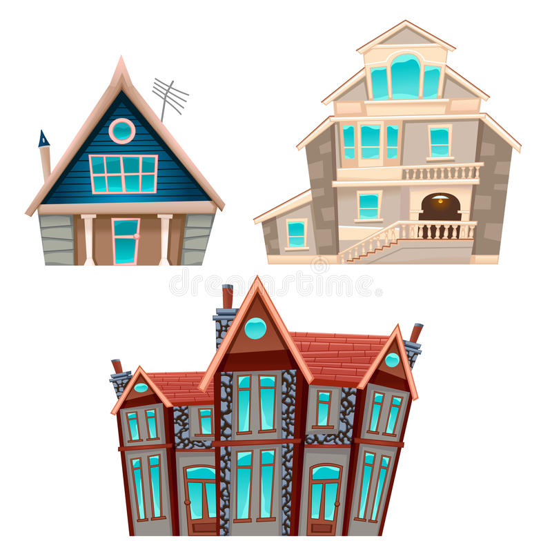 domy ustawiający wektor ilustracji