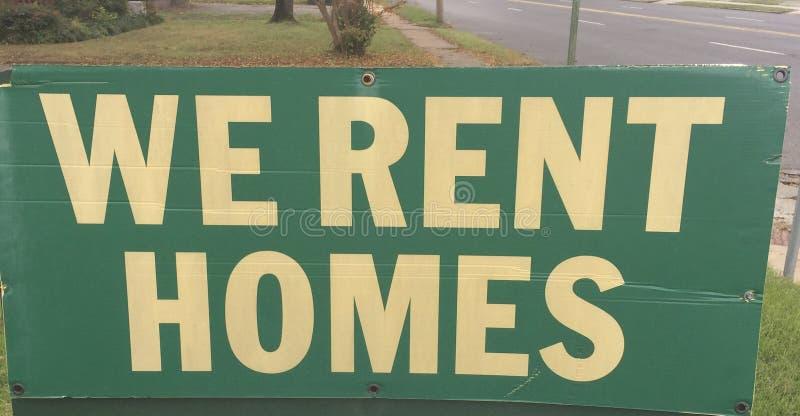 Domy, własność dla arendy lub czynsz Swój, zdjęcia royalty free