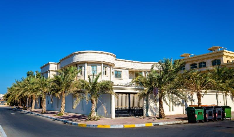 Domy w Abu Dhabi kapitał emiraty fotografia royalty free