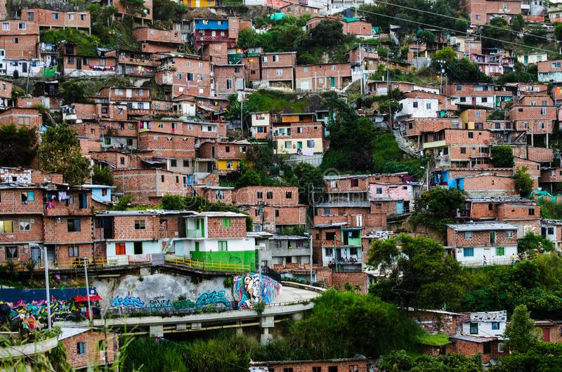 Domy w Medellin, Kolumbia obraz stock