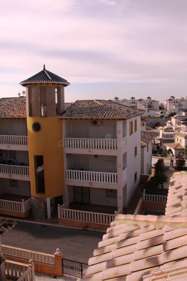 Domy w Orihuela Costa, Hiszpania zdjęcia stock