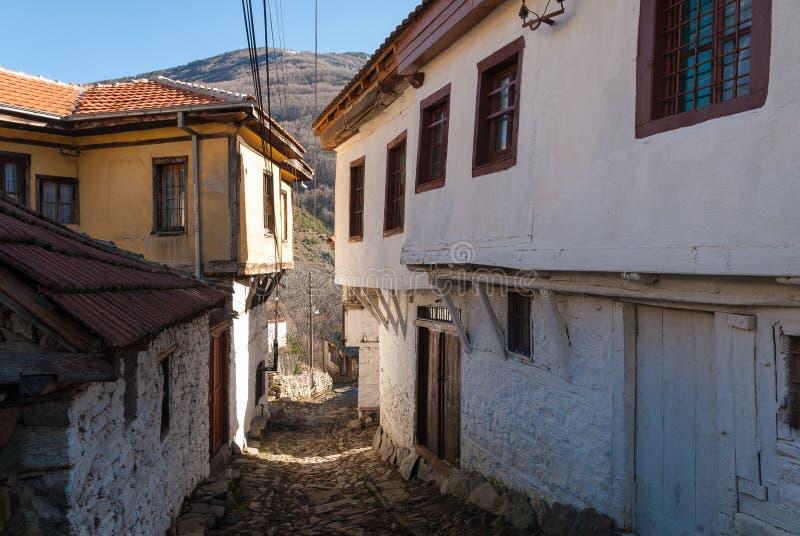 Domy w republice Macedonia (FYROM) obrazy royalty free