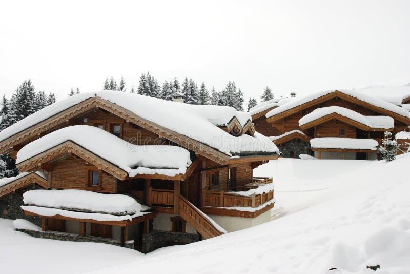 domy w stylu alpejskim obrazy royalty free