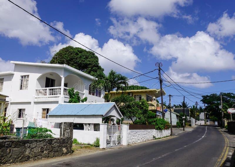 Domy w Uroczystym Baie, Mauritius fotografia royalty free