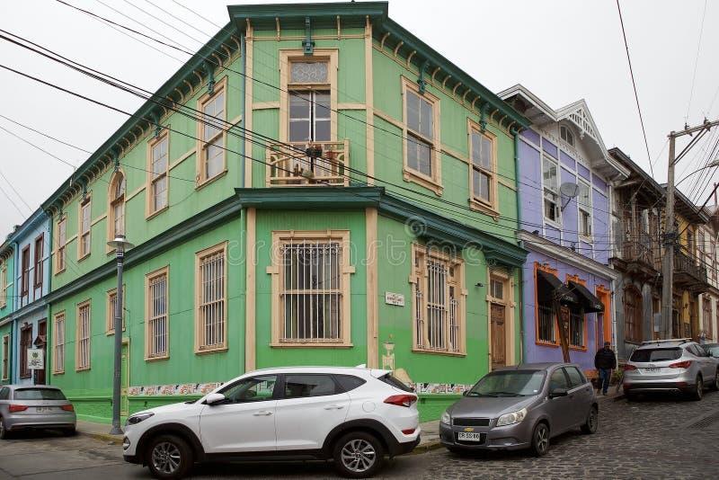 Domy w Valparaiso, Chile obraz stock
