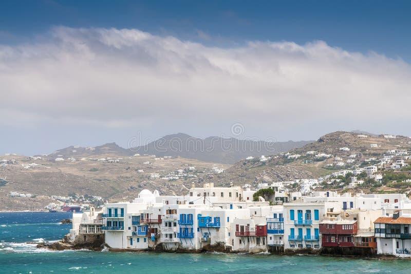 Domy wyspa Mykonos obraz stock