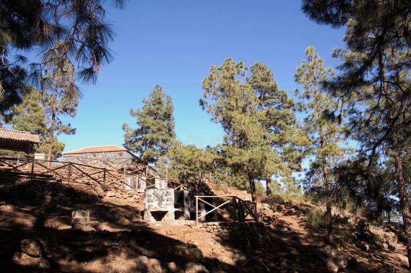 Domy zapewniać usługa rekreacyjny teren w cañadas Del Teide obrazy stock