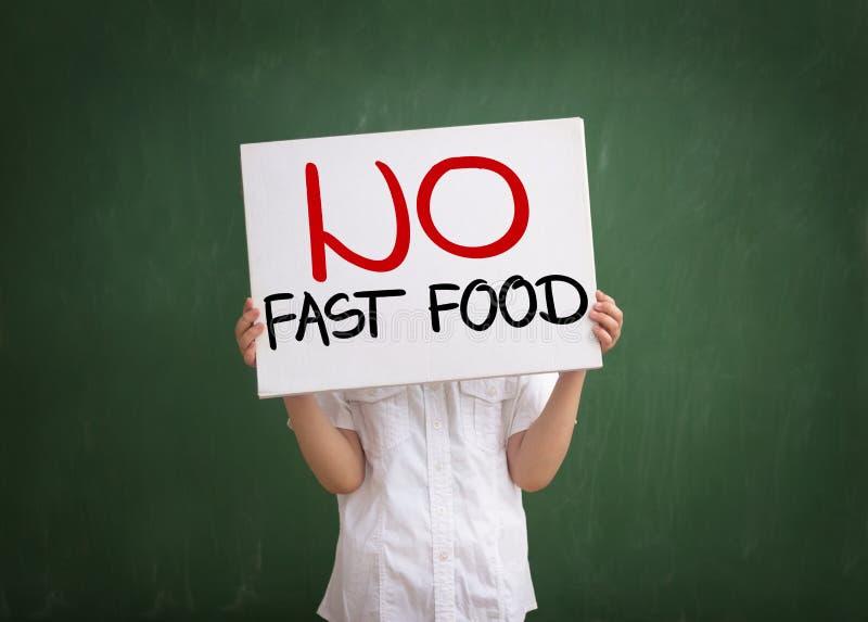 Don't come los alimentos de preparación rápida foto de archivo libre de regalías