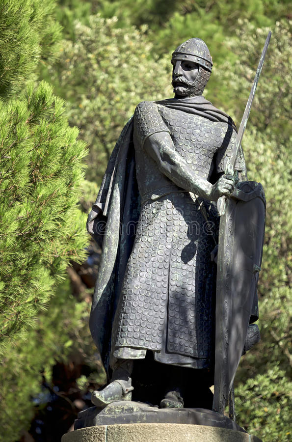 Don Alfonso Henriques statua - Lisbon, Portugalia obraz royalty free