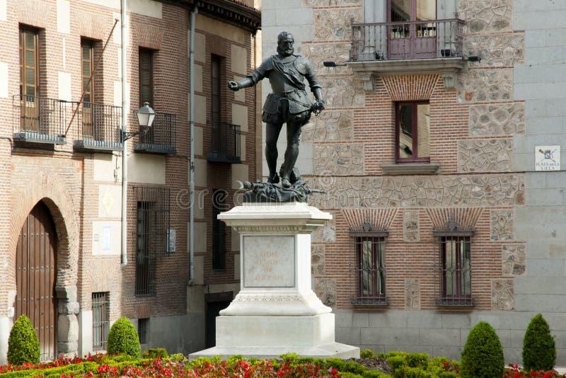 Don Alvaro de Bazan Statue - Madrid - la Spagna fotografia stock libera da diritti