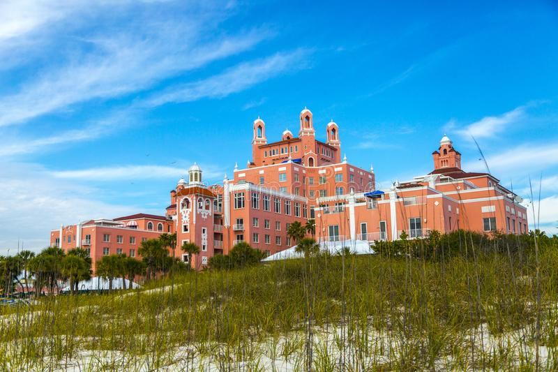 Don Cesar Hotel Architecture photographie stock