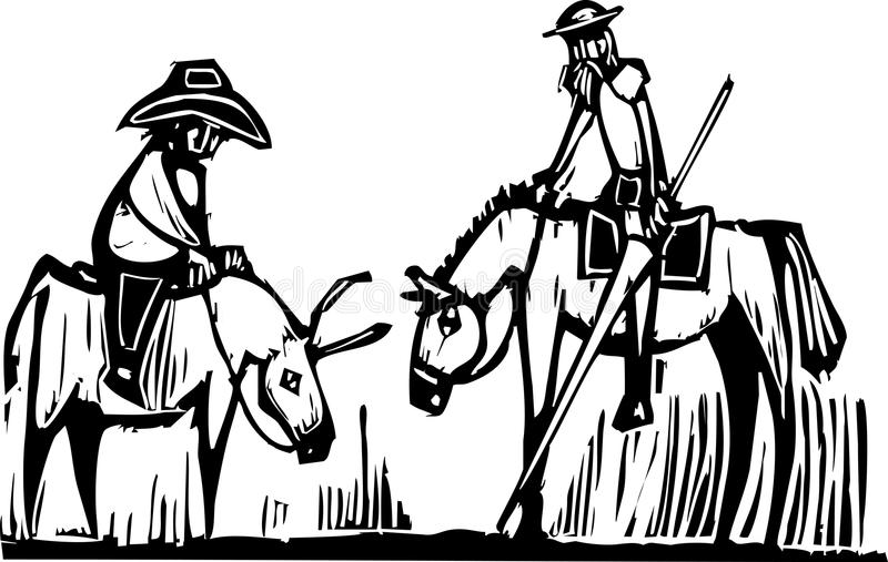 Don don Quichotte illustration stock