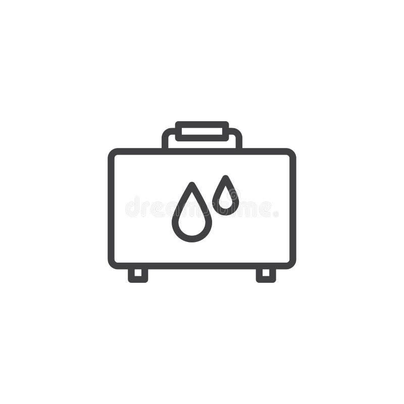 Don du sang, ligne icône de sac illustration libre de droits