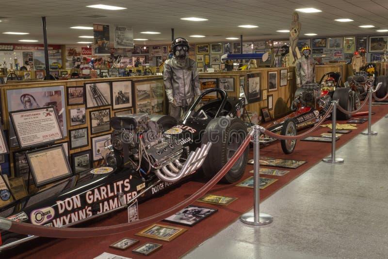 Don Gartlis Museum av friktion Racing arkivfoto
