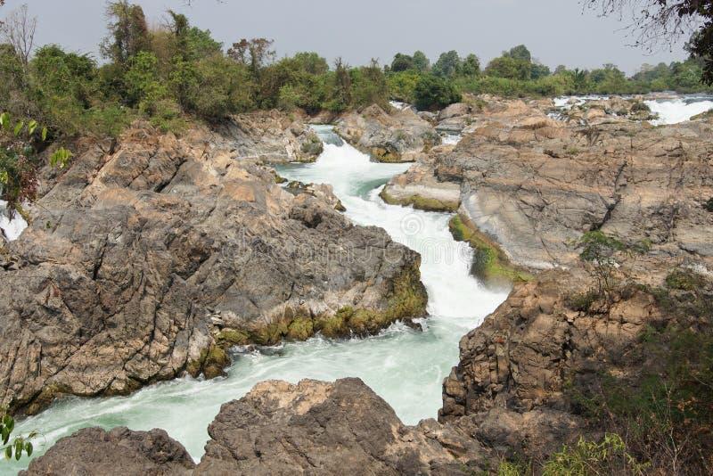 Don Khone Island Laos, Asien arkivbilder