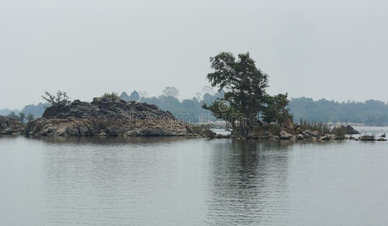 Don Khone wyspa, Laos, Azja fotografia royalty free