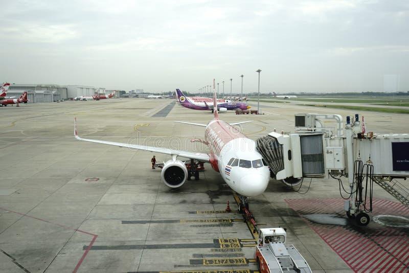 Don Meung-luchthaven in Bangkok, Thailand stock fotografie